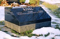 Ivan Rival monument at Beechwood Cemetery
